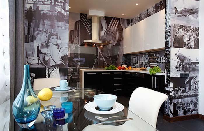 vintage film afişi mutfak duvar kağıdı modeli