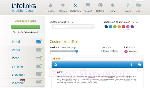 Earn $1000 per month with Infolinks: The best In-Text Advertisingnetwork