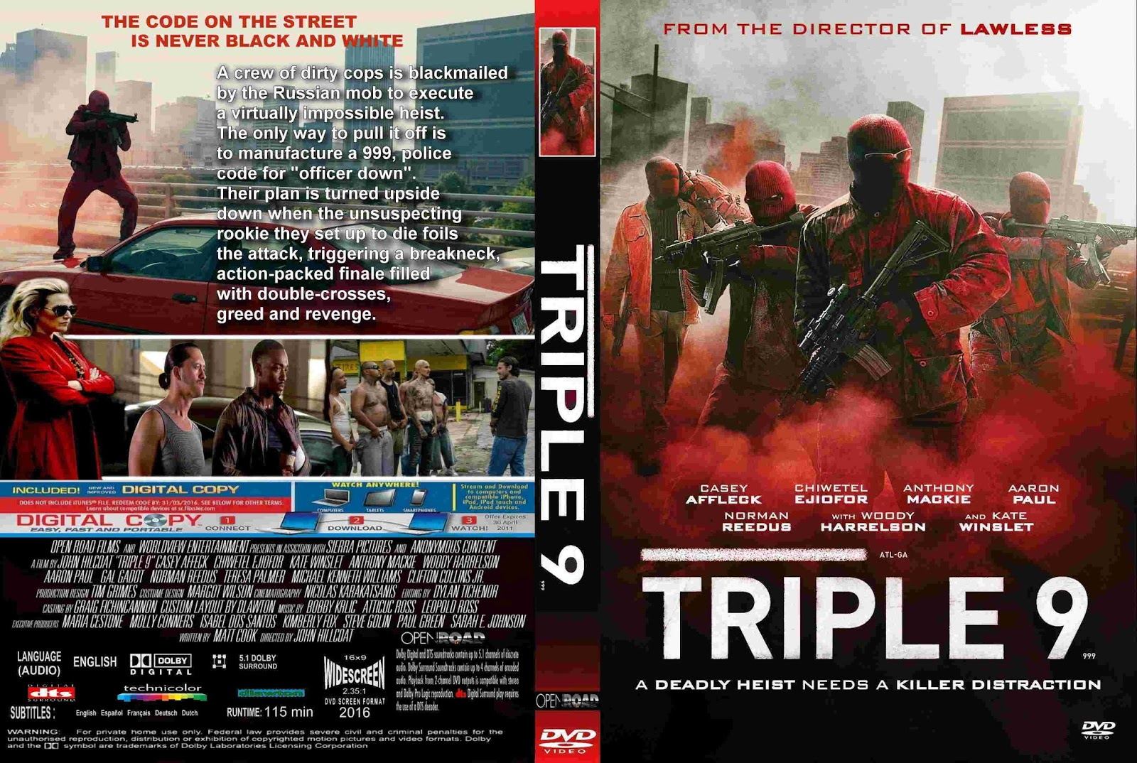 Download Triple 9 DVD-R Triple 9  282016 29 R2   Cover  26 Label DVD Movie