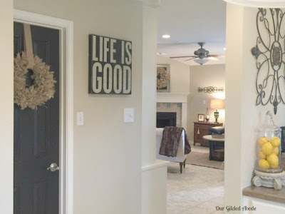 Painted Pantry Door, shared by Our Gilded Abode at The Chicken Chick's Clever Chicks Blog Hop