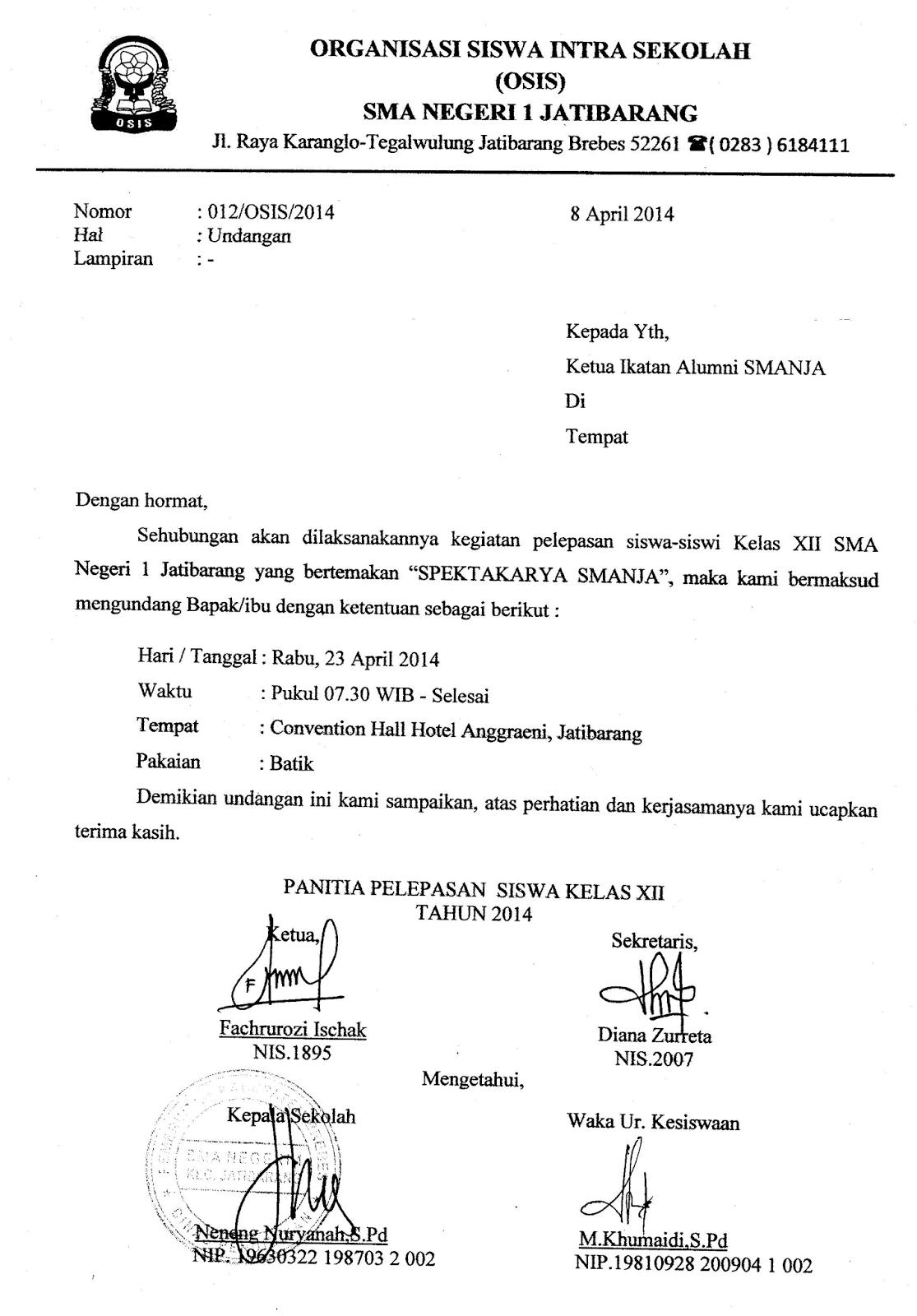 Contoh Surat Undangan Acara Perpisahan Kelas Xii - Contoh ...