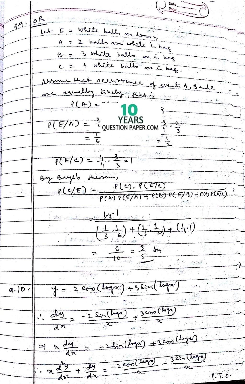 cbse class 12th 2016 Mathematics paper solution