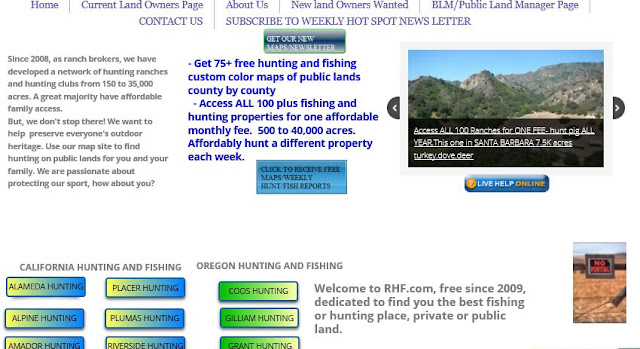 hunting and fishing public lands oregon and california, hunting and fishing private ranches or lands oregon and california