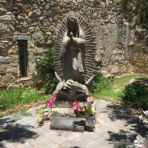 Virgin of Guadalupe altar at Mission San Juan in San Antonio Missions National Historical Park in San Antonio, Texas