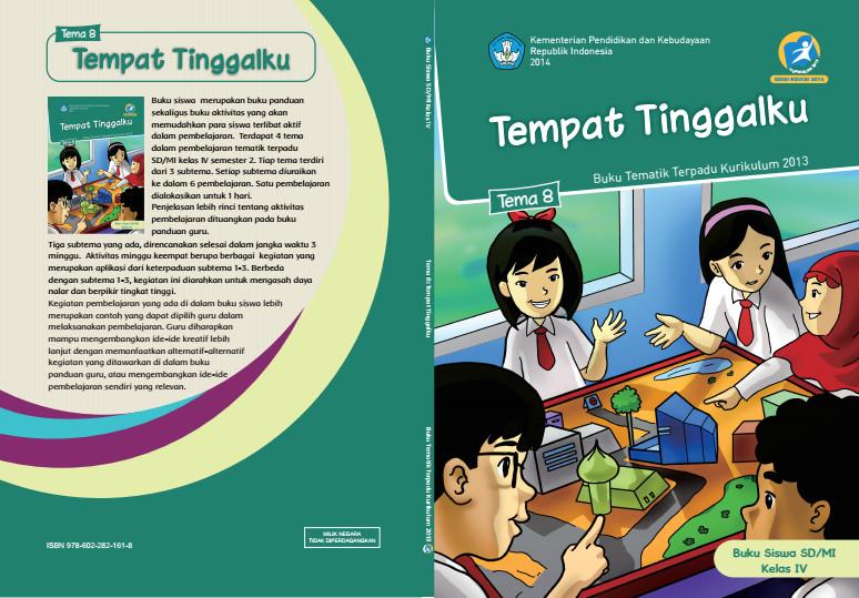 Download Buku Tematik Kurikulum 2013 SD/MI Kelas 4 Tema 8 Tempat Tinggalku Edisi Revisi Format PDF
