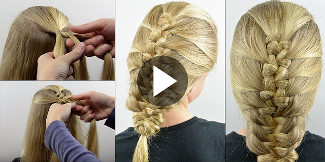 Learn - How To Make French Knotted Fishbone Braid Hairstyle, See Tutorial