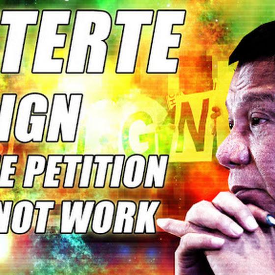 President-Elect Rodrigo Duterte Resign Online Petition ★ It Will NOT Work