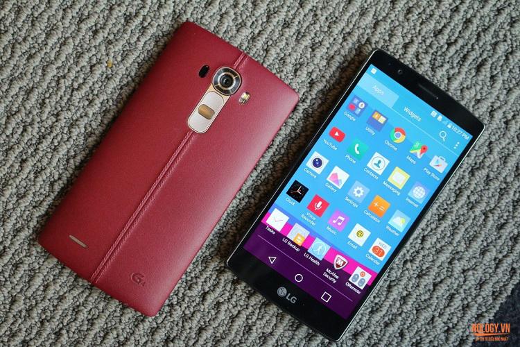 Thiết kế tinh tế và sang trọng của LG G4 xách tay