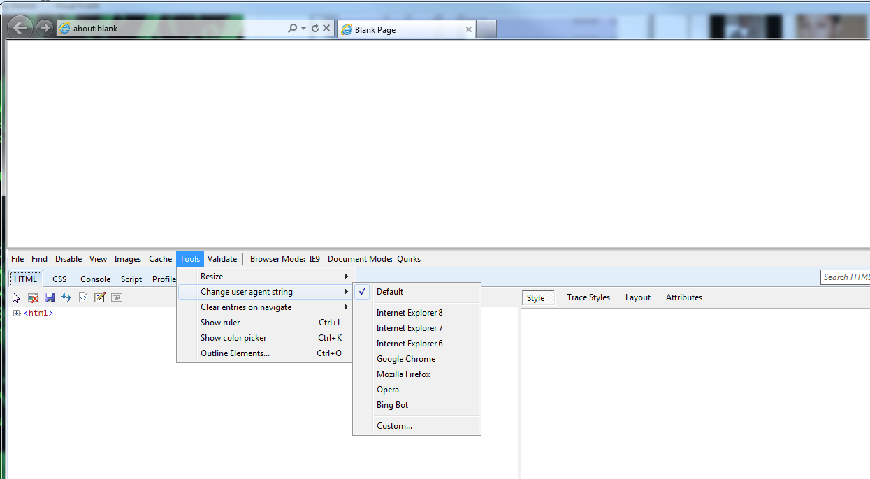Changing User Agent on Chrome, Firefox and IE9 | Param's Blog