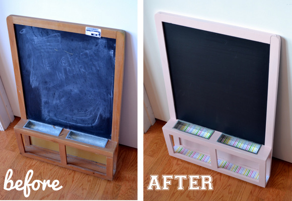 How to upgrade and old chalkboard before and after photos.