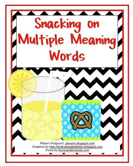 Multiple Meaning Snacks Classroom Freebies