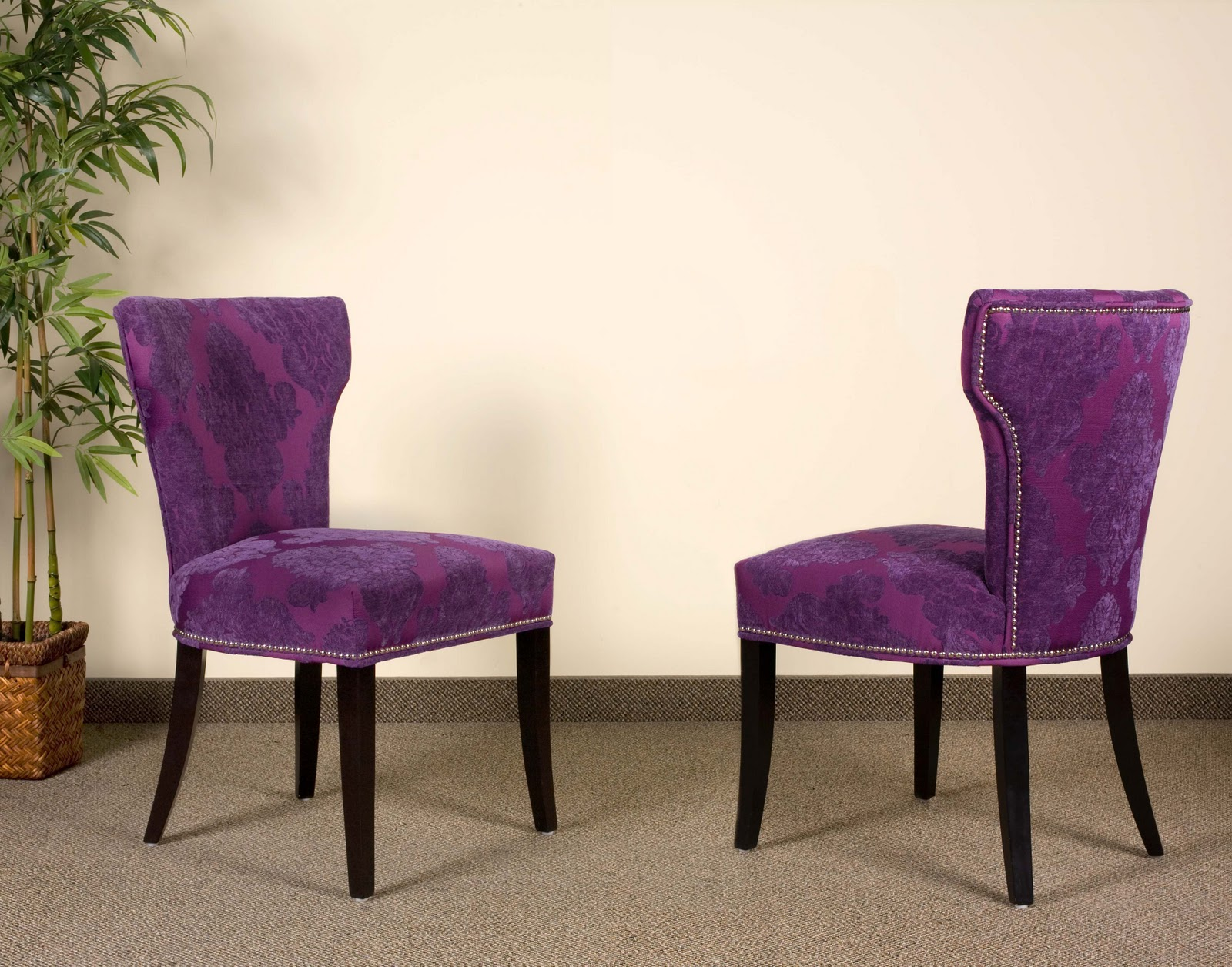 Purple Dining Chair Covers Wheelchair Volleyball Design Sense