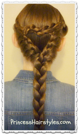 Cute heart braid hairstyle tutorial for Valentine's Day