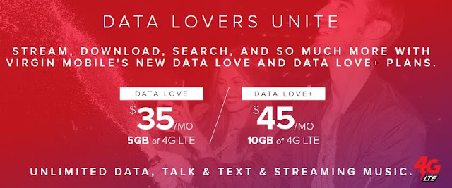 Virgin Mobile unlimited data plans