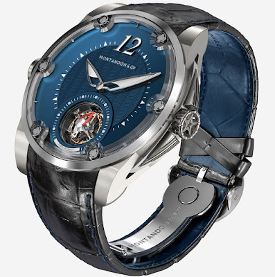 MONTANDON & Co Oceanrider TMA01 V1 watch with blue dial
