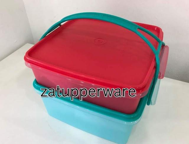 Tupperware Jumbo Goody Box with Carolier (1) 2L+ (1) 4L