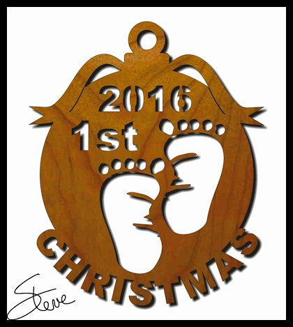 babys 1st christmas ornament scroll saw pattern years 2016 2017 2018 2019 and 2020