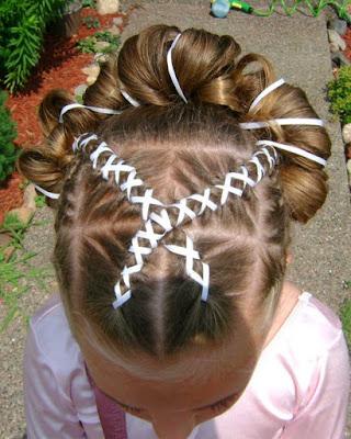 Peinados de niñas con cintas originales y faciles