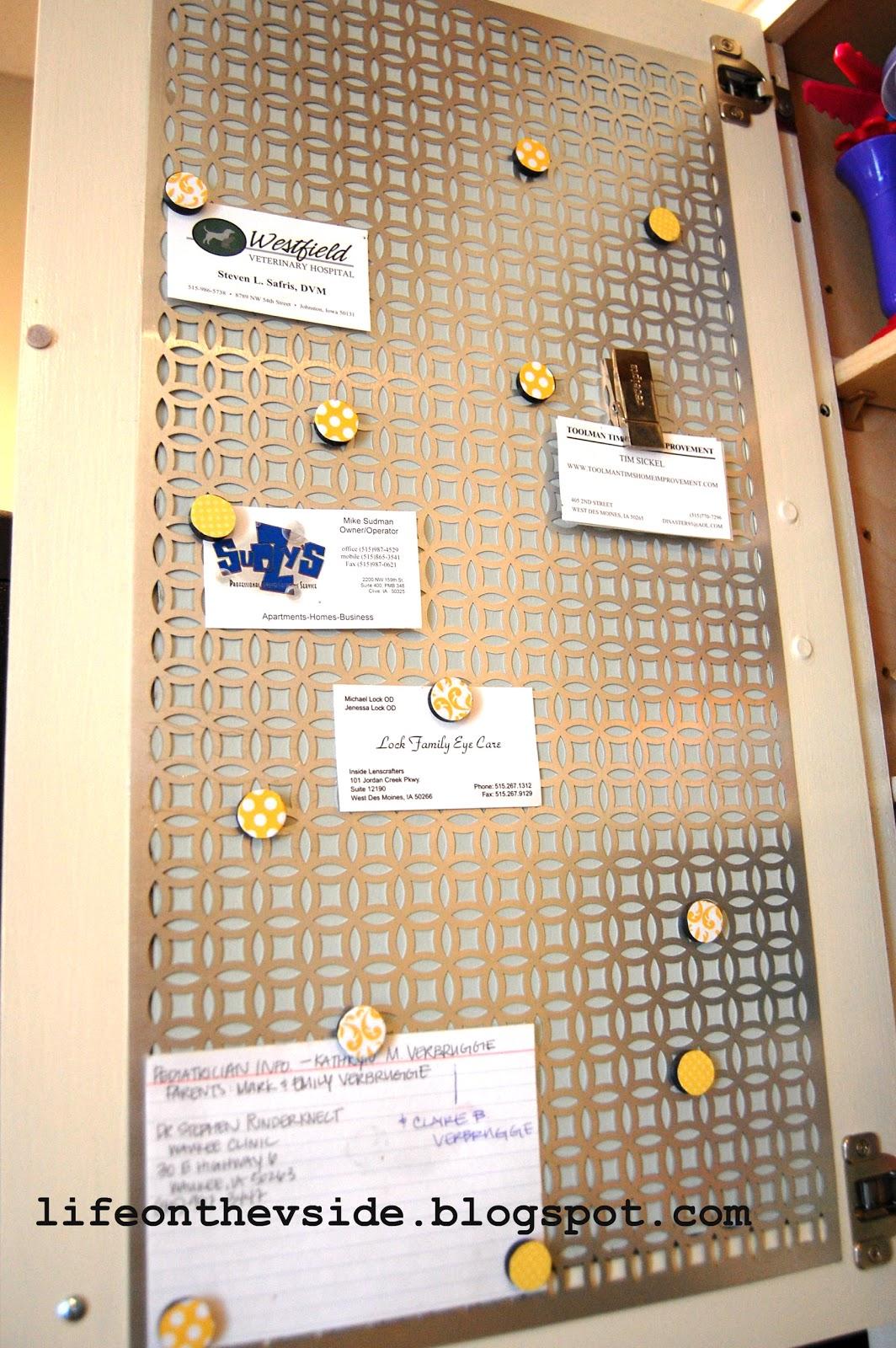 On the V Side: Kitchen Cabinet Magnet Board [Tutorial]
