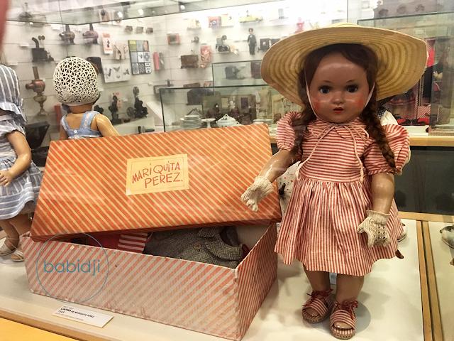 Mariquita Perez : poupée ancienne au musée du jouet à Figuères