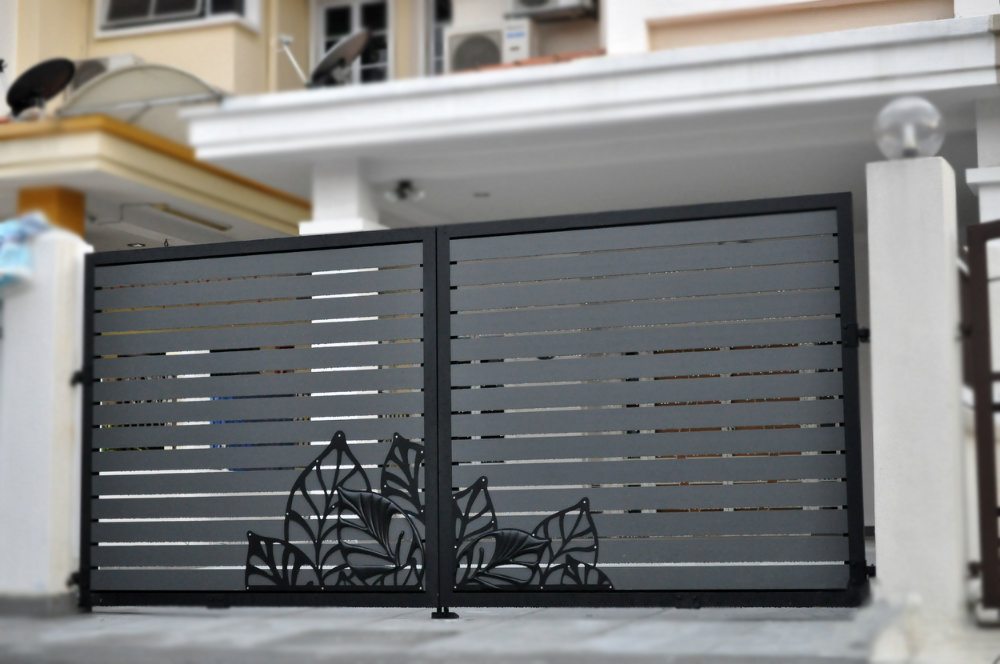 12 best iron front gate designs for Modern front gate design