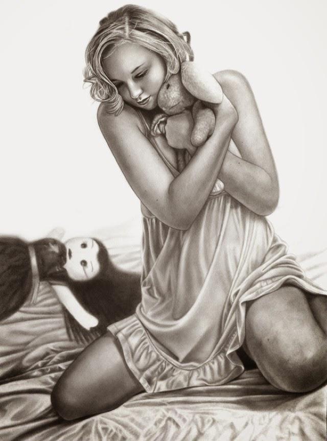 Реалистичные рисунки карандашом. Eddy Chang
