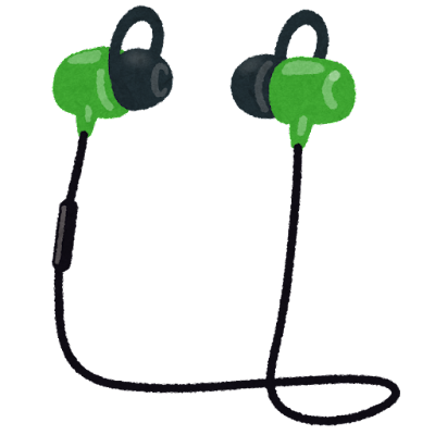 Bluetoothイヤフォンのイラスト