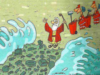 Moses teilt das Meer Comic lustig