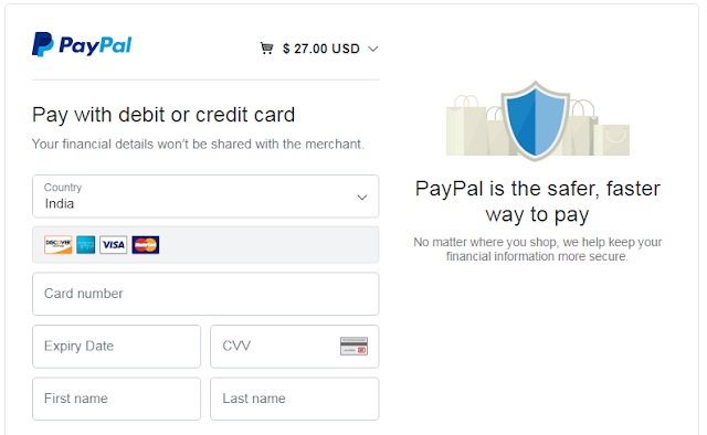 International financial transactions using Debit card on paypal