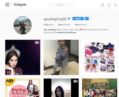Followers di IG Ayu Ting-Ting 21 Juta ? Asli atau Palsu ?