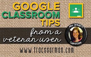 Google Classroom Tips www.traceeorman.com