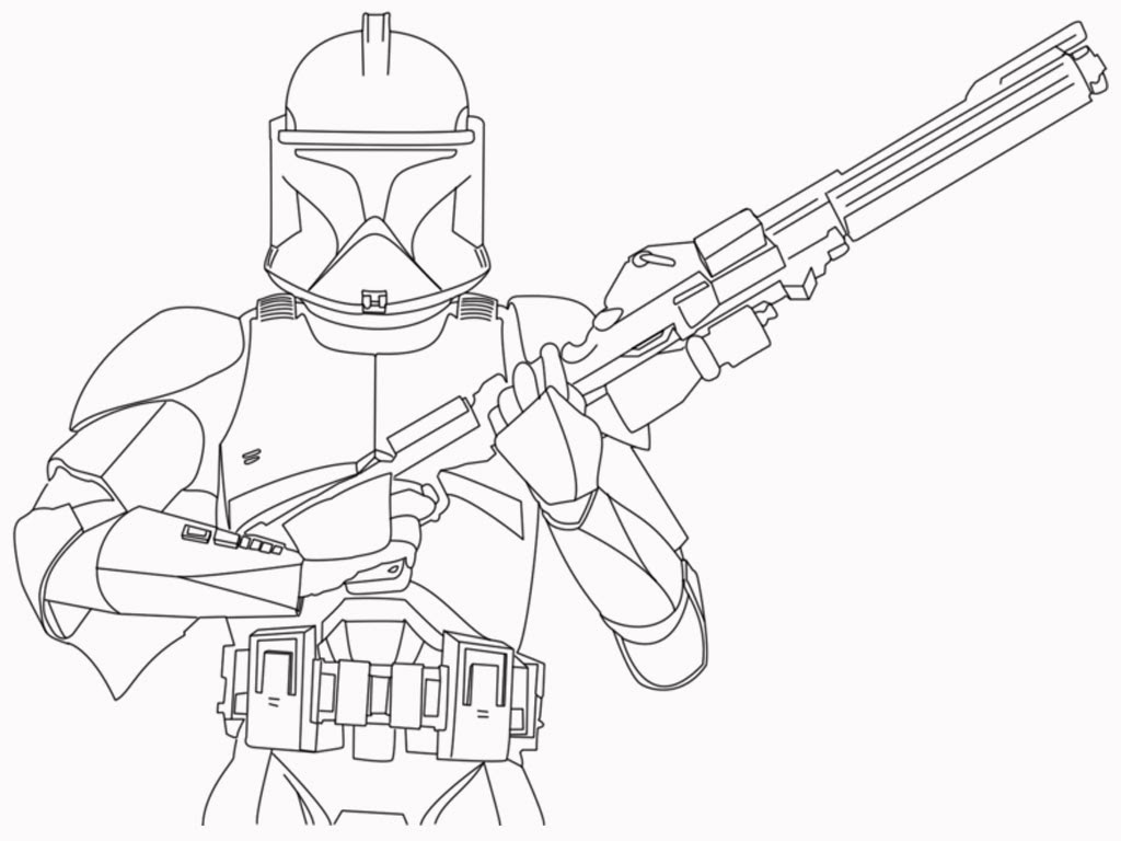 clone trooper coloring pages Star Wars clone troopers Coloring page SuperColoring