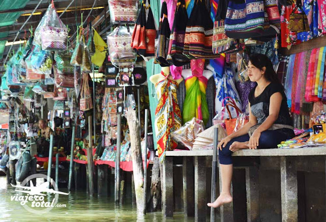 Tailandia mercado flotante