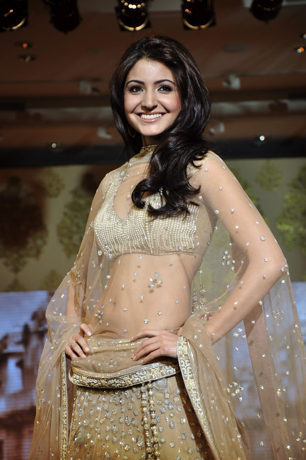 Actress Anushka Sharma Navel Show Photos