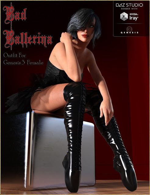 Bad Ballerina HD Outfit for Genesis 3 Female