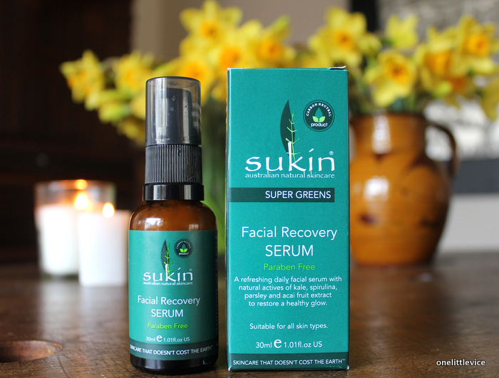One Little Vice beauty blog: natural cruelty free green facial serum for soft nourished skin