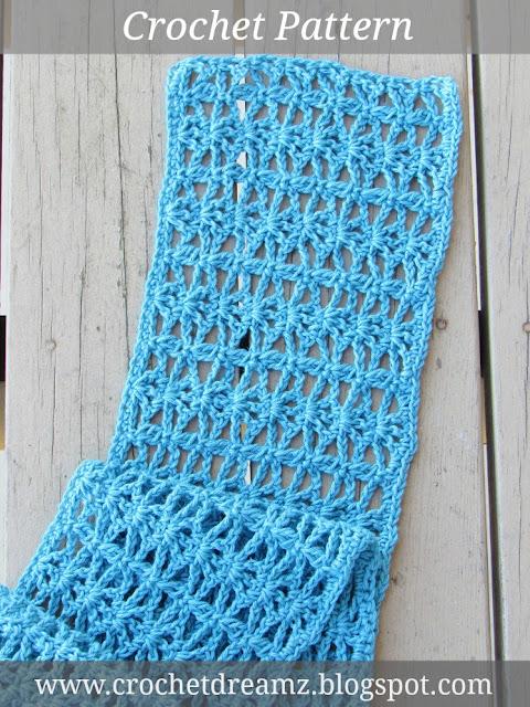 Free Easy Lacy Scarf Crochet Pattern ~ Dancox for