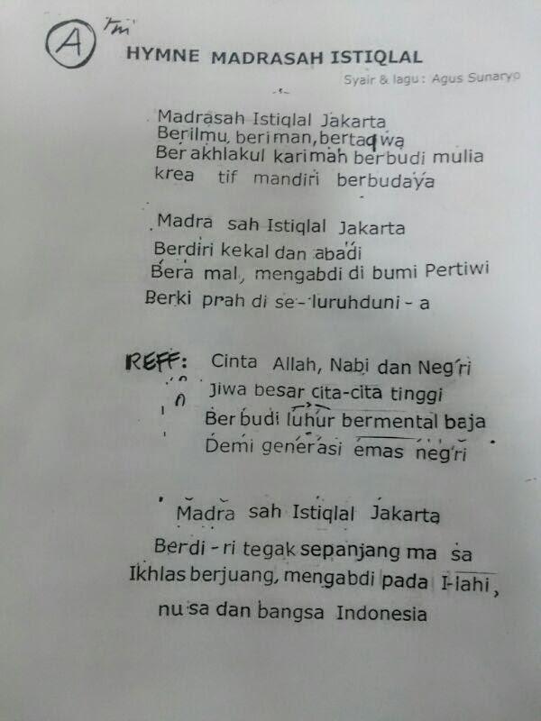 Lirik Hymne Madrasah : lirik, hymne, madrasah, Against, Clock, 'Asr:, Hymne, Madrasah, Istiqlal
