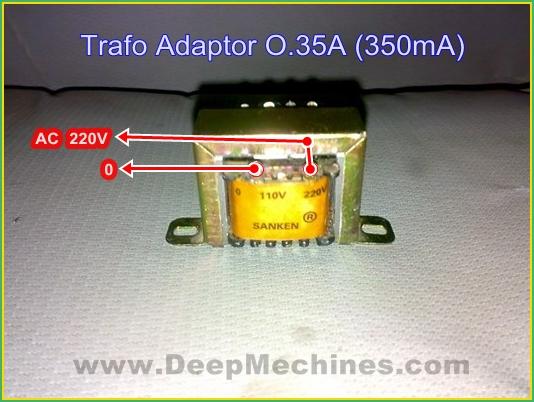 Belajar Merakit Adaptor Sederhana dengan Trafo 350mA