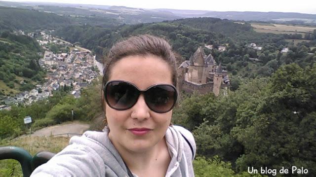 Palo con las vistas al castillo en Vianden