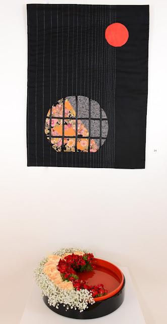 Art Quilt and Ikebana - Martine Amiguet and Monique Bugnon (Quilt) and Brigitte Luyet (Ikebana)