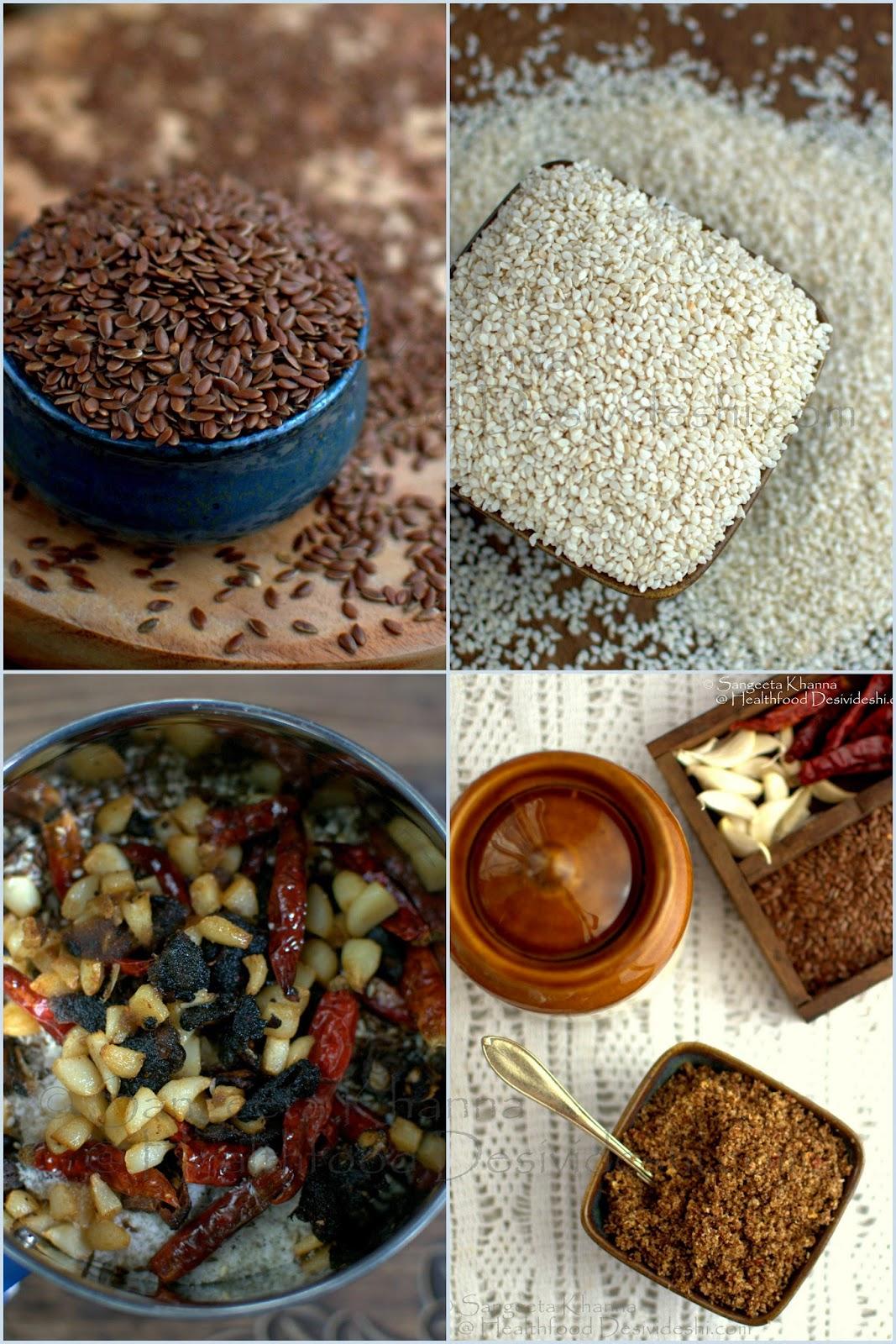 dry flax seeds chutney