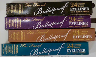 Too Faced BulletProof 24 hour Eyeliner pen TJ Maxx haul Marshalls smudge smoky eye