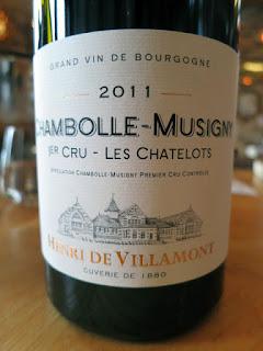 Henri de Villamont Chambolle-Musigny 1er Cru Le Châtelots 2011 (92 pts)