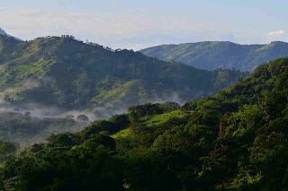 early morning valley view in Costa Rica
