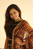 Lasya looks super cute in black choli Saree at Raja Meru Keka Press Meet ~  Exclusive 088.JPG