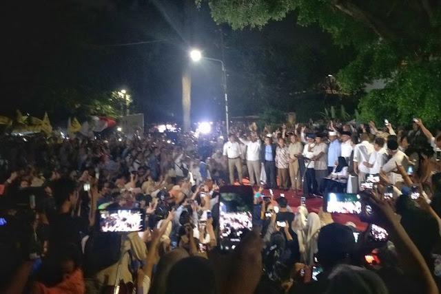 Prabowo: Sejak Malam Terjadi Kejadian yang Merugikan Kami