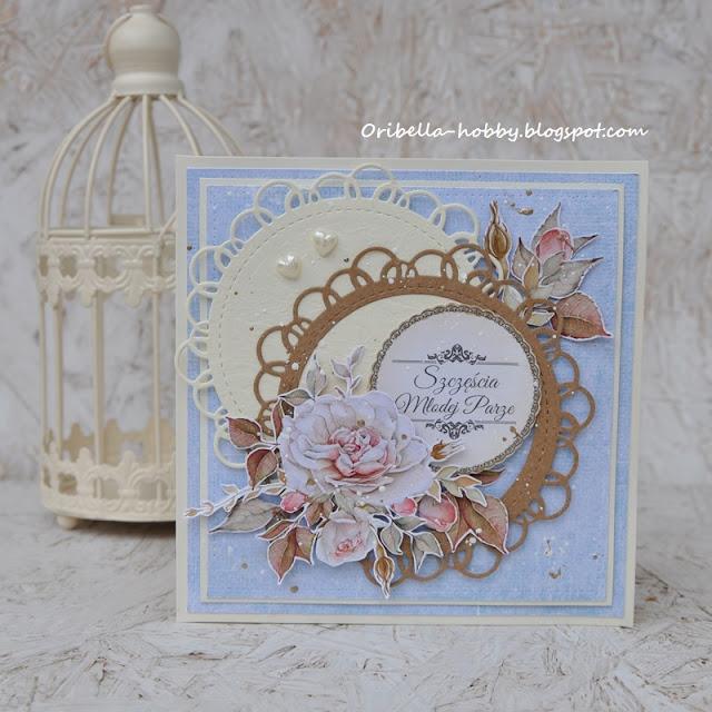 632. Ślubna kartka z różami – kolejna.