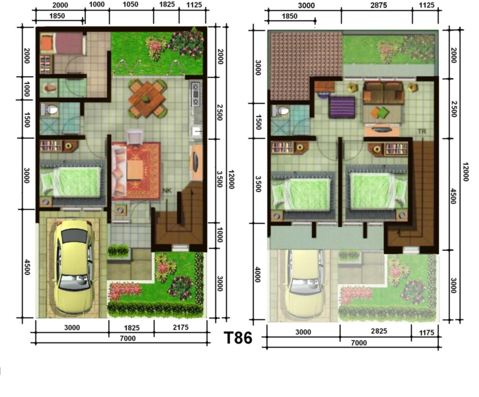 Sketsa Denah Rumah Mewah Dua Lantai Kreatif