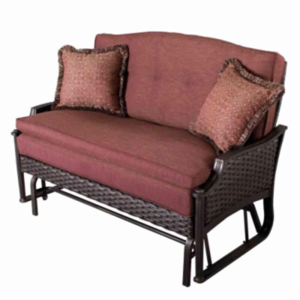 Martha Stewart Living Palamos Wicker 2-Person Patio Glider ... on Martha Stewart Wicker Patio Set id=98242